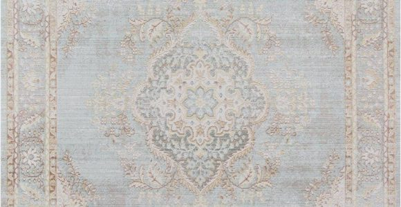 Carina Synthetic Rug Porcelain Blue Acacia Rug In Blue