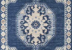 "Carina Synthetic Rug Porcelain Blue Momeni Anatolia Ana 3 Navy Machine Made area Rugs 2 3"" X 7 6"" Runner"
