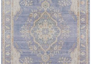 Carina Synthetic Rug Porcelain Blue Periwinkle Lavender Blue Shabby Chic Rug