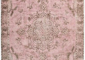Carina Synthetic Rug Porcelain Blue Sahara Turkish Style Pink Distressed Medallion Rug Miss