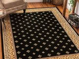 """Cat themed area Rugs 5×7 Noble Palace Black French European formal Traditional area Rug 8×10 8×11 7 10"""" X 9 10"""" Easy to Clean Stain Fade Resistant Shed Free Modern"""
