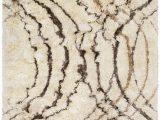 Charcoal and Tan area Rug Surya Corsair Swirls Shag area Rugs