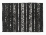 Charcoal Grey Bath Rugs Charcoal Gray White Patterned Rectangular Bath Mat In