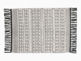 Charcoal Grey Bathroom Rugs White Charcoal Gray Bath Mat In Jacquard Weave Cotton