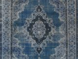 """Cheap 10 by 12 area Rugs 10 0"""" X 12 9"""" Vintage Overdyed Blue Rug"""