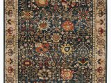 Cheap 10 by 12 area Rugs Safavieh Kashan Blue and Tan 9 X 12 area Rug & Reviews