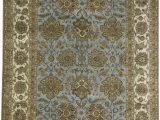 """Cheap 12 by 12 area Rugs E Of A Kind Trinity Handwoven 12 1"""" X 15 6"""" Wool Blue Brown area Rug"""