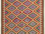 """Cheap 5 by 7 area Rugs Joanna Handwoven Flatweave 5 7"""" X 8 4"""" Wool Pink Yellow Red area Rug"""