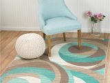 Cheap 5 by 7 area Rugs Summit Teal Taupe Abstract area Rug 5 X 7 Walmart