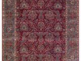 Cheap 8 by 10 area Rugs E Of A Kind Janie Hand Knotted 8 X 10 Wool Red Green area Rug