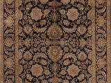 Cheap area Rugs 9×12 Near Me Black Floral Agra oriental area Rug 9×12 In 2020