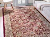 Cheap area Rugs 9×12 Near Me Red Classic Agra area Rug