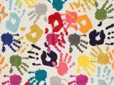 Cheap area Rugs for Classroom Albina Handprint Collage Multi Rug