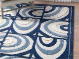 Cheap Indoor Outdoor area Rugs Lucente Blue Modern Indoor Outdoor Rug