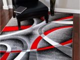 Cheap Red and Grey area Rugs Modern Trendz Gray Red Contemporary area Rugs