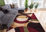 Chelsi Rings Circles area Rug Chelsi Geometric Red Beige area Rug with Images Well Woven