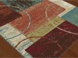 Chelsi Rings Circles area Rug Multi Color Squares Contemporary Blocks area Rug Modern