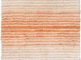 """Chenille Lines Bath Rug Collection Home Weavers Gradiation Collection Absorbent Cotton soft Rug Machine Wash Dry 24""""x40"""" Coral"""