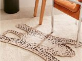 Chenille Lines Bath Rug Collection Tammas Printed Tiger Shaped Chenille Rug