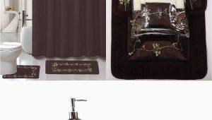 Chocolate Bathroom Rug Sets 22 Piece Bath Accessory Set Beverly Chocolate Brown Bathroom Rug Set Shower Curtain & Accessories