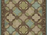 """Chocolate Brown and Turquoise area Rugs Brookwood Bw Brown Turquoise Contemporary area Rug 7 10""""x9 10"""""""