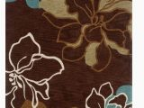 Chocolate Brown and Turquoise area Rugs Trio 5 X 7 area Rug In Brown Turquoise Linon Rug Tasd0257