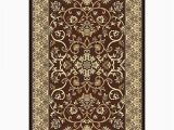 Chocolate Brown area Rugs 8×10 King Traditional oriental Floral 8×10 8×11 Rug 2115 Brown