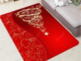 Christmas Bath Rugs Accessories Christmas Tree and Star Print Water Absorption area Rug In