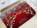 Christmas Bath Rugs for Sale Christmas Hanging Ball Star Print Nonslip Flannel Bath Mat