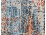 Citium Blue area Rug byerly Abstract Wool Blue area Rug