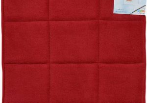 Cloud Step Memory Foam Bath Rug Red Memory Foam Bath Mat area Rug Non Skid Absorbent 17 X 24 or 20 X 30 Square Box 17×24