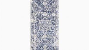 Cobalt Blue Runner Rug Alta Ivory Cobalt Blue Distressed Runner Rug Miss Amara Au