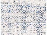 Cobalt Blue Runner Rug Braga Ivory Cobalt Blue Tribal Pattern Runner Rug