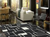 Contemporary area Rugs for Living Room Milliken Contemporary Geometric Black and area Rug