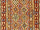 Contemporary area Rugs orange and Blue Brightmoor Contemporary orange Brown Blue area Rug