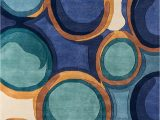 "Contemporary area Rugs orange and Blue Momeni Rugs New Wave Collection Wool Hand Carved & Tufted Contemporary area Rug 9 6"" X 13 6"" Blue"