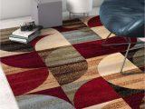 Contemporary Multi Color area Rugs Mid Century Modern Multicolor Geometric Modern area Rug