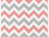 Coral and Grey area Rug Amazon Cafepress Coral and Grey Chevron 3 X5
