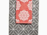 Coral Bath towels and Rugs Bathroom towel Color Binations Gray Accent towels In 2020