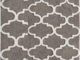 Cotton Bathroom Rug Sets Saffron Fabs 2 Piece Bath Rug Set soft Cotton Size 24×17 Inch and 34×21 Inch Latex Spray Non Skid Backing Grey White Geometric Pattern 190