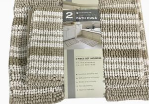 Country Living Bath Rugs town Country Living 2 Piece Cushioned Spa Bath Rugs Set