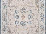 Cream and Navy Blue area Rugs Acadia Floral Cream Navy area Rug