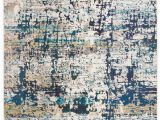 Cream and Navy Blue area Rugs Gutierez Abstract Cream Blue area Rug In 2020