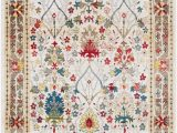 Cream and Red area Rugs Arbouet Traditional Floral Dark Red Cream area Rug