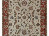 Cream and Red area Rugs Bowman oriental Handmade Tufted Wool Cream Red area Rug