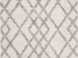 "Cream Color Shag area Rug Ber214a Color Cream Gray Size 5 3"" X 7 6"""