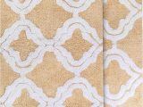 "Cream Colored Bath Rugs Chesapeake Merchandising Double Quatrefoil 2pc Straw Bath Rug Set 21""x 34"" & 24""x40"""
