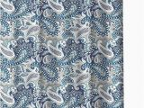 Croscill Bath Rugs Discontinued Marine Blue Gray White Fabric Shower Curtain Decorative Paisley Design