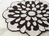 Custom Shaped Bathroom Rugs Otil Reversible Flower Shaped Bath Rug