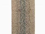 Custom Size Bathroom Rugs Custom Size Brown Color Non Slip Memory Foam Rubber Leopard